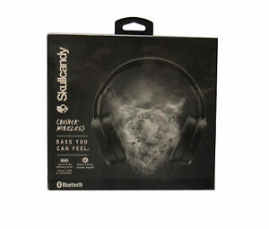 Skullcandy Crusher Wireless Over-the-Ear Headphones with Mic, Black