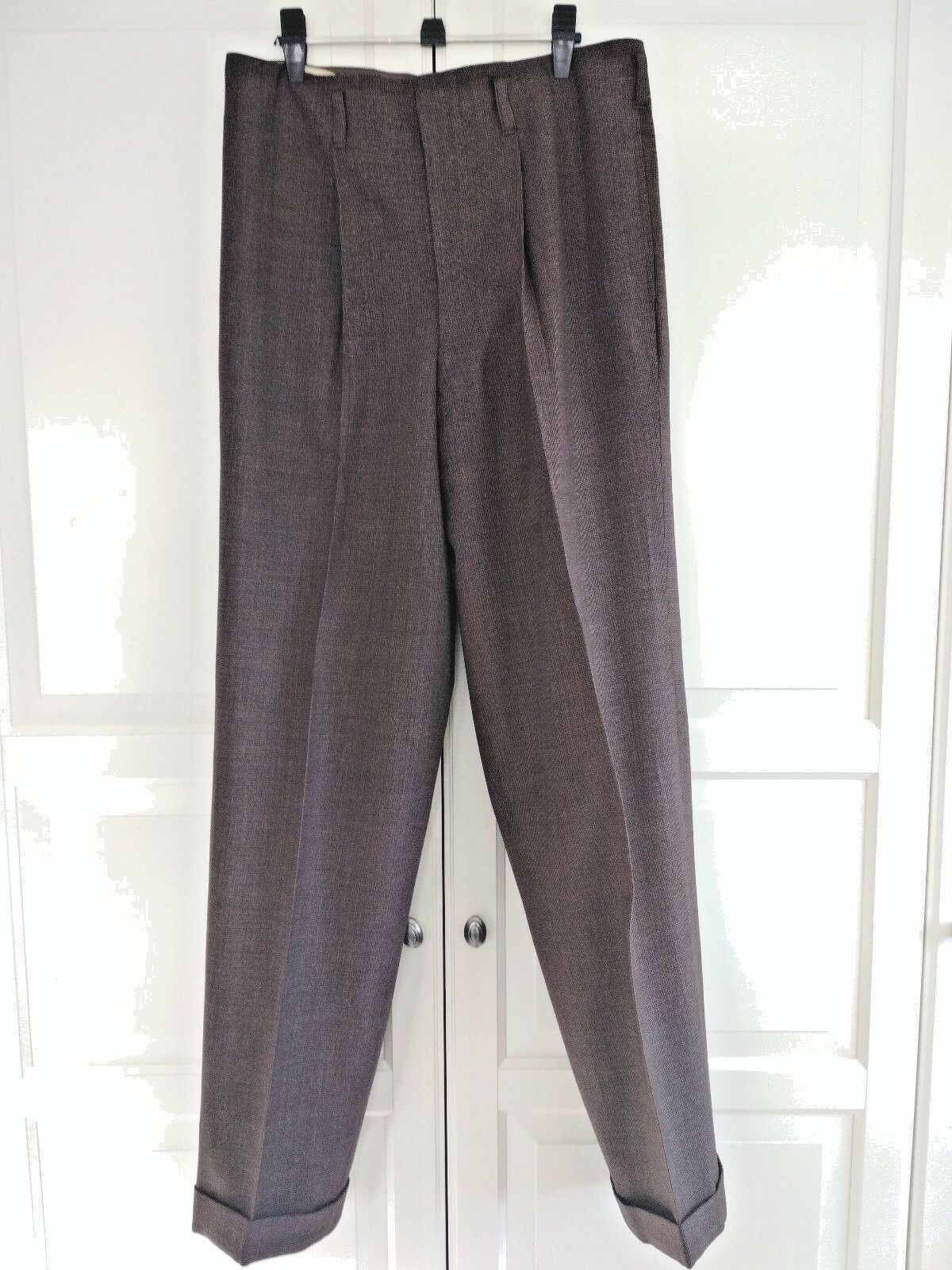 1940 Brown pattern Pants W32 L32