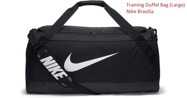 Nike Brasilia Large Training Gym Duffel Bag Black Gray Sports Bag ... 4f632cb5028e6