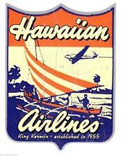 King Kerosin Hawaiian Airlines Aufkleber/Sticker/Retro/Oldschool/Rockabilly/V8