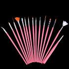 15 X Nail Art Acrylic UV Gel Design Brush Set Painting Pen Tips Tools kit