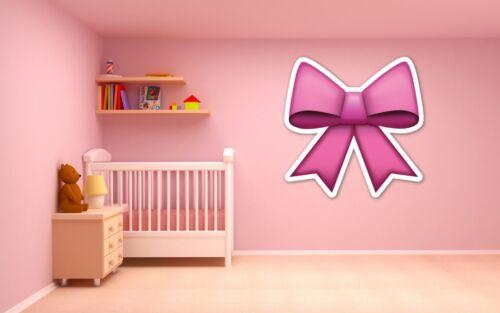 Emoji pink bow ribbon vinyl wall car decal sticker 5 sizes girl/'s bedroom