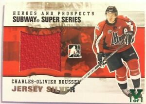 2009-10-ITG-Heroes-amp-Prospects-Subway-SS-Jersey-Silver-Charles-Olivier-Roussel