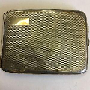 Vintage Solid Silver Engine Turned Cigarette Case 1927 132g Levi & Salaman