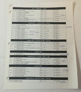 ONE-TREE-HILL-set-used-SHOOTING-SCHEDULE-Season-1-Episode-19