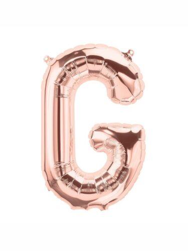 Z Large Letter Balloons in Rose Gold Full Alphabet UK Foil Balloons 40 Inch A