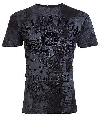 Archaic AFFLICTION Men T-Shirt BLACK TIDE Skull Tattoo Biker MMA UFC S-3XL $40 a