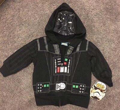 Baby Boys Star Wars Darth Vader Full Zip Masked Hoodie Cosplay Tops Jacket Coats