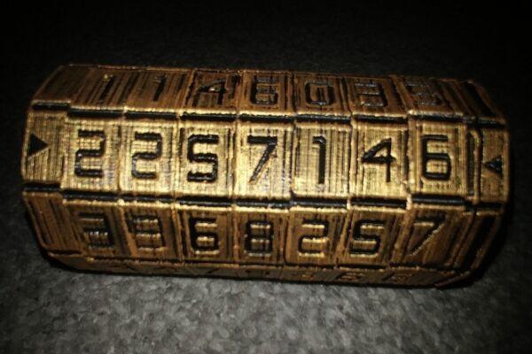 Amichevole Mini Cryptex Puzzle Davinci Replica In Plastica Stampa 3d 5, 6 O 7 Numero Black Gold Rafforza Tendini E Ossa