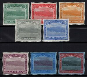 P131885-DOMINICA-STAMPS-BRITISH-COLONY-SG-62-70-MH-COMPLETE-CV-135