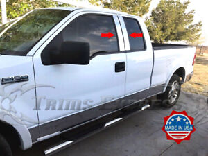 2004-2014-Ford-F-150-Super-Cab-Extended-4Pc-Pillar-Post-Trim-Stainless-Steel