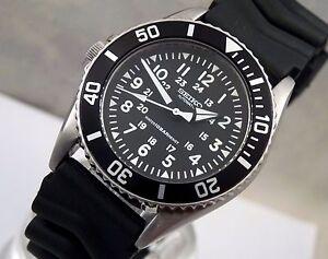 1ffb1dd05 Seiko SKX023 Custom 'Lefty' Black Pilot Midsize Automatic Divers ...