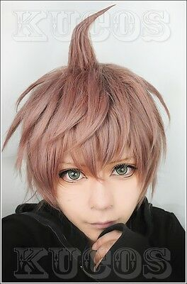 Naegi Makoto Wig Danganronpa Heat Resistent Synthetic Hair Short Cosplay Wigs