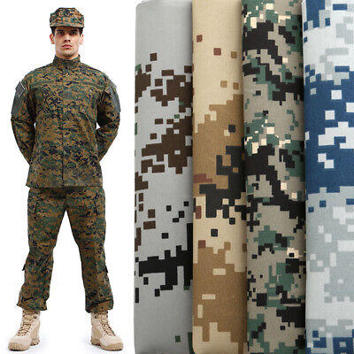 Polycotton Fabric Green Camouflage Army Soldier Military Material Jungle