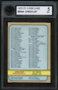 1972-73-OPC-O-Pee-Chee-Checklist-Card-334A-KSA-5-Error-List-as-more-WHA