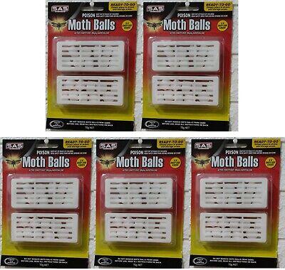5 x Moth Balls Repellent Wardrobe Drawers Mothballs Protect in Box Brand NEW
