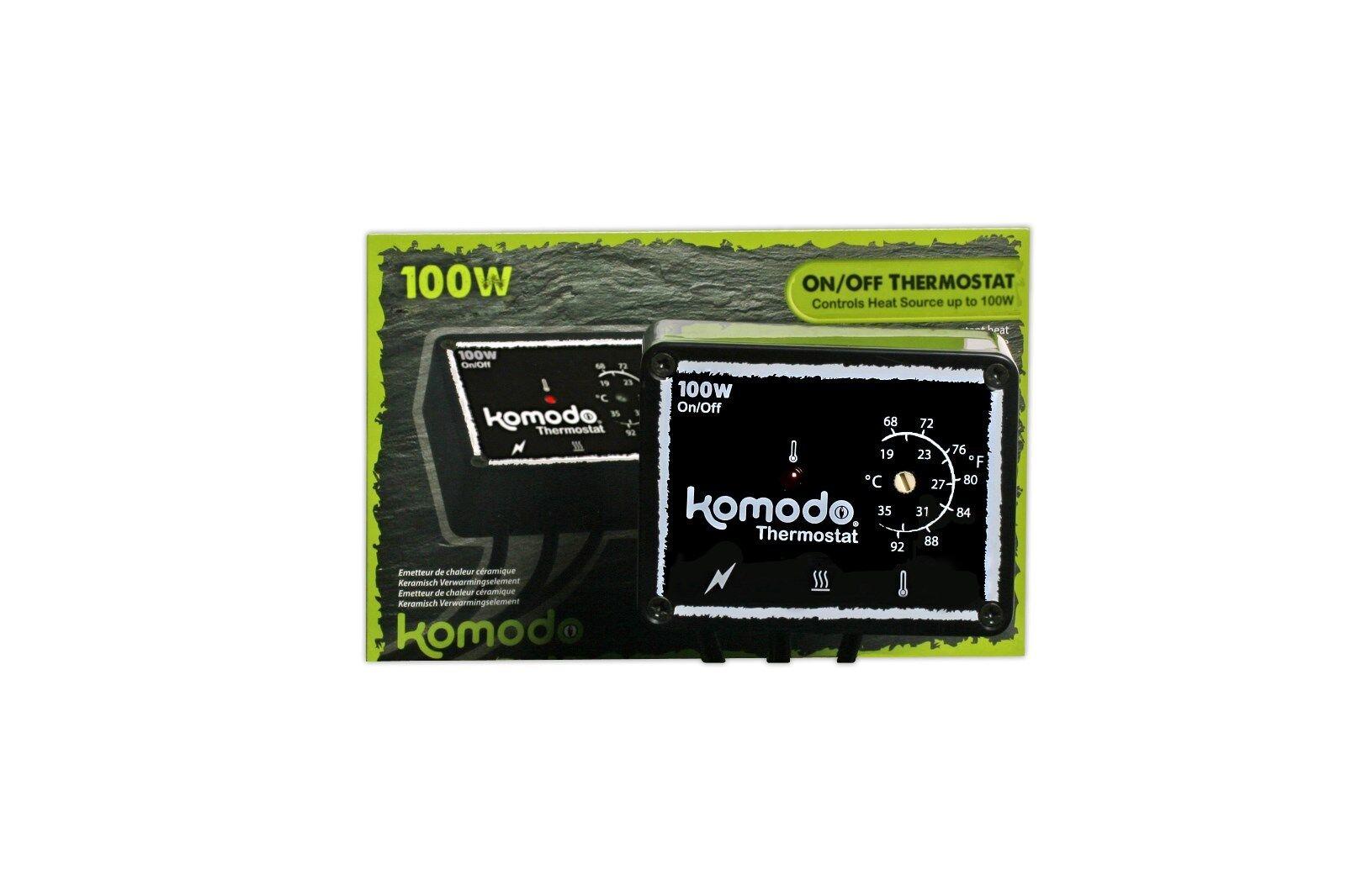 Komodo On   Off 100w Thermostat Matstat Ministat - ideal for heat mats