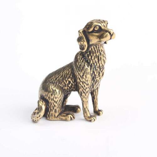 Chinese old Antique Collectible Brass Zodiac Dog fengshui Exquisite  statue