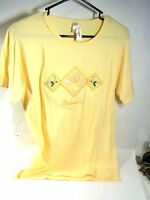 Nice Cabela's Women's Yellow Cotton Embroidered Tee Shirt W/ Original Tag
