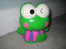 Vintage SANRIO KEROPPI Frog Ceramic 1988, 2000 Piggy Coin Savings Bank TOY USED