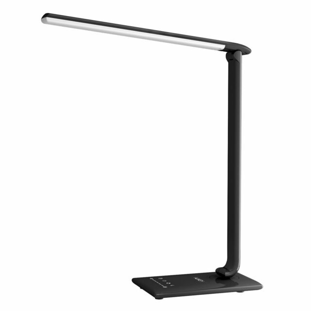 AUKEY Desk Lamp, 12W Dimmable LED Table Lamp with USB Charging Port, 7 Level Dim