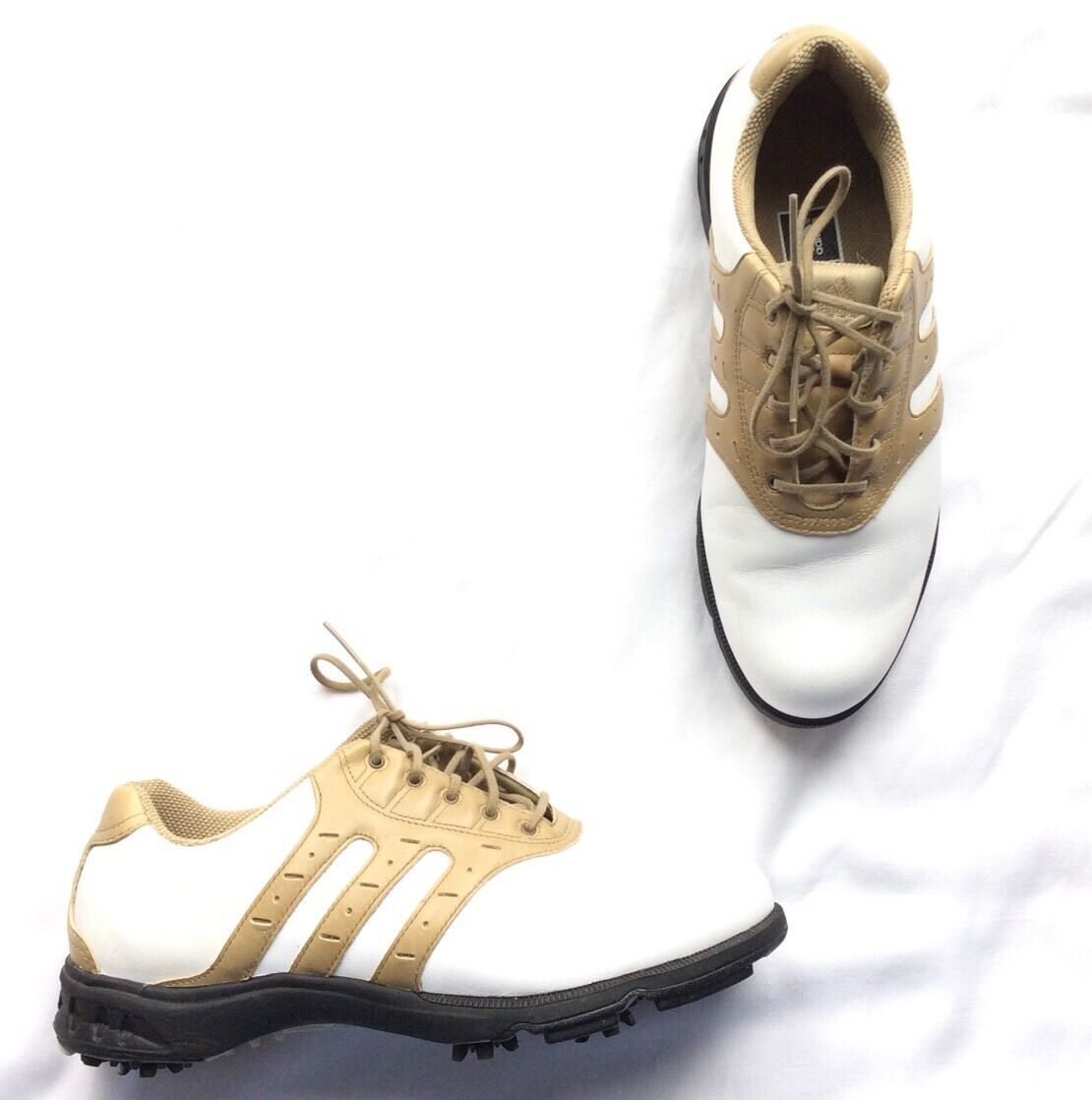 Golf Shoes Adidas Traxion Torsion System Adiprene Sz 8 M Oxford Style Two Tone Seasonal clearance sale