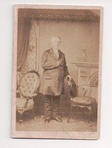 Vintage-CDV-Unknown-Man-Nobility-Politician-Burton-amp-Co-Photo-Leicestier