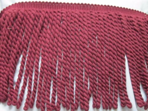"9/"" CONSO MAROON CRANBERRY UPHOLSTERY PILLOW BULLION FRINGE TRIM"