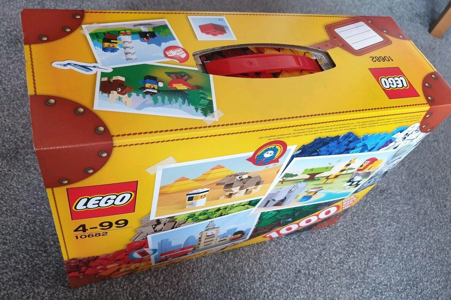 Lego 10682 bricks and mer kreativt resväska 1000 bitar Sällsynta Set BNIB