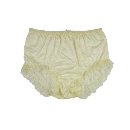 Various Styles NQH05D Yellow Underwear Handmade Adult Briefs Panties Nylon Lace