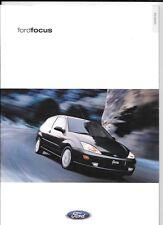 FORD FOCUS CL, ZETEC, ZETEC 2.0i, LX  AND GHIA CAR  SALES BROCHURE MARCH 2000