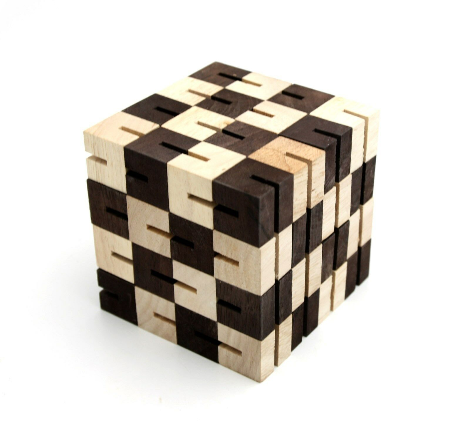 5+1  total 6 wooden puzzles Wooden 3D Logic Brain Teaser Puzzle