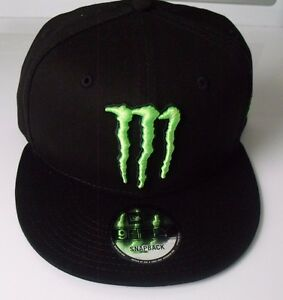 70190c15ef Image is loading Monster-Energy-New-Era-9Fifty-Athlete-Snapback-Hat-