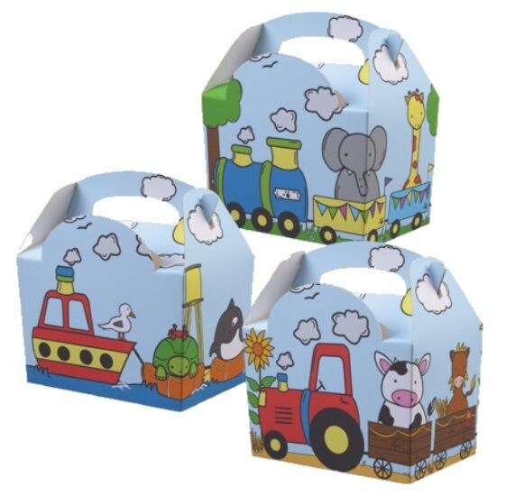 24 ANIMAL PARADE CHILDRENS BIRTHDAY PARTY LUNCH MEAL BOXES - FOOD GIFT CAKE BOX