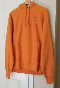 a7afc51e08d8 Image is loading Champion-x-Urban-Outfitters-reverse-weave-hoodie-Orange-