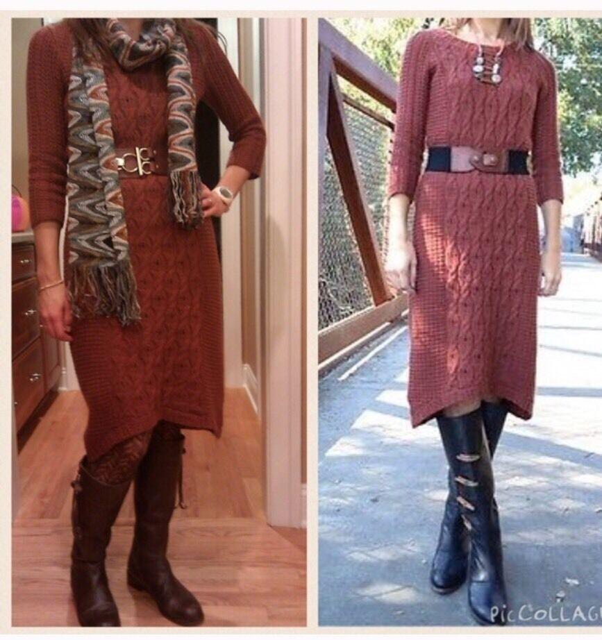 NWOT Anthropologie Sparrow Heavens Wool Blend  Sweater DressS