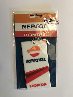 Genuine Honda Racing Corporation Repsol Chunky Rubber Keyring Key Chain Ring