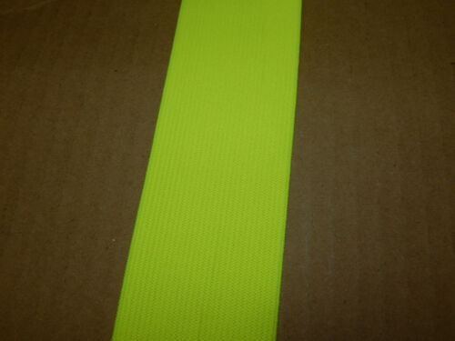 """5 YARDS 2/"""" WIDE KNITTED ELASTIC CHARTREUSE COLOR PN 43HS MADE IN USA"""