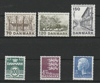 Sonnig V2318 Dänemark Briefmarken Kl.los Minr 592/94+718+726+732 ** Um Jeden Preis