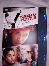 HUSTLE UNLEASHED CROUCHING TIGER HIDDEN DRAGON  DVD 3 DISC JET LI