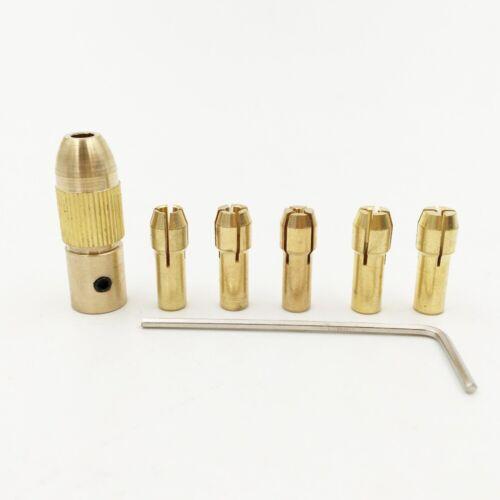 8Pcs 0.5-3.2mm Mini Twist Drill Tool Chuck Set Small Electric Collet Drill Bit