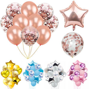 14pcs/Set Confetti Balloons for Birthday Wedding Party Baby Shower Decorations Home, Furniture & DIY