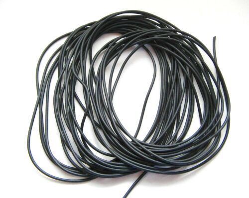 Banda de caucho 2m-5m 1mm negro caucho cuerda sintetico 1,00 € -0,79 €//m