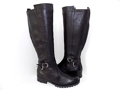 TESORI Women/'s Valencia Black Lether Riding Knee High Boots Boots