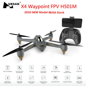 Hubsan X4 FPV H501M Waypoint Drone WIFI RC Quadcopter APP Brushles 720P GPS RTF