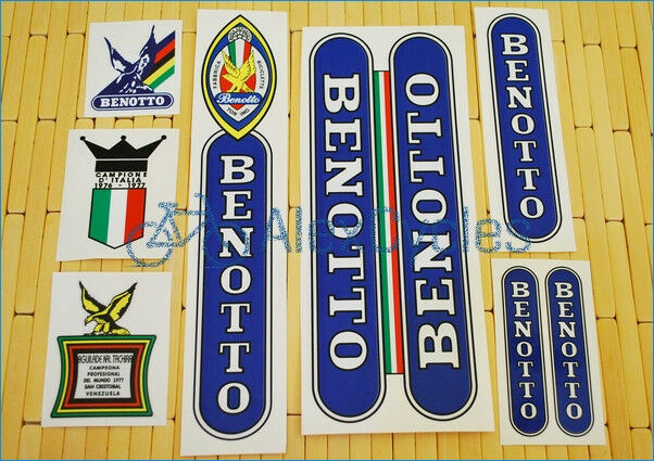 Rare BENOTTO Restoration  Decals Kit  Yellow ST Set Campagnolo Vintage + 17 GIFT  with cheap price to get top brand