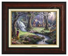 Thomas Kinkade - Disney - Snow White - Canvas Classic (Burl Frame)