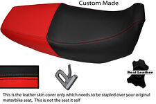 BLACK AND RED CUSTOM FITS HONDA XR 125 03-12 DUAL LEATHER SEAT COVER