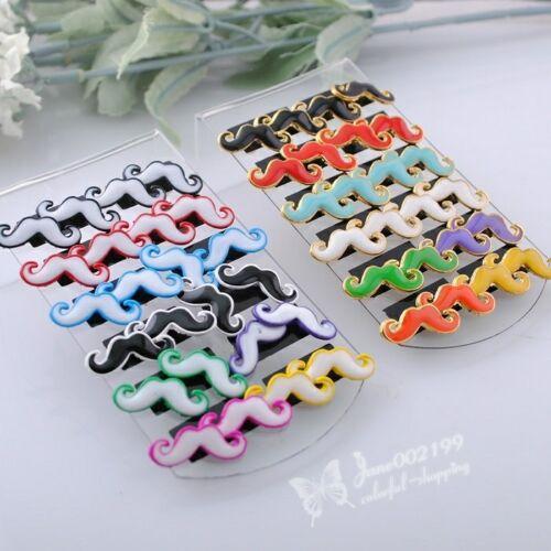 1 Boîte 12 Paires Mix Cute mustache Earring Stud