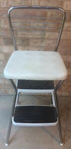 Terrific Details About Vtg 50S Cosco White Step Stool Kitchen Flip Top Vinyl Chrome Chair Ladder Retro Inzonedesignstudio Interior Chair Design Inzonedesignstudiocom